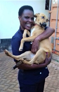 A happy adopter and a Bahati overwhelmed by so much love